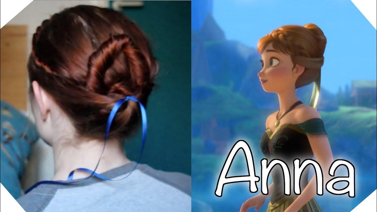Disneys Frozen Hair Tutorial Anna At The Coronation Youtube