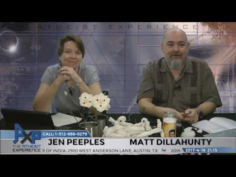 Atheist Experience 21.15 with Matt Dillahunty and Jen Peeples