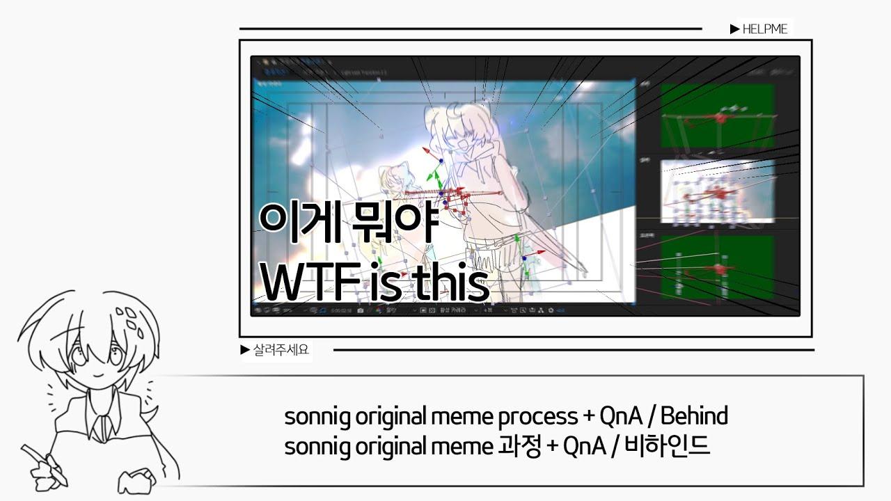 [60fps] sonnig original meme process + QnA, Behind (Eng sub O)  / 과정 + QnA, 비하인드