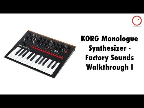 KORG Monologue Synthesizer - Factory Sounds Walkthrough I