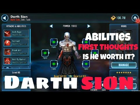 SWGOH Darth Sion - Abilities, First Thoughts & Is He Worth It?