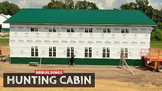 Building a Hunting Cabin 10: Installing House Wrap and Windows