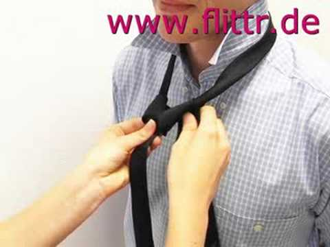 krawatte binden doppelter windsor youtube. Black Bedroom Furniture Sets. Home Design Ideas