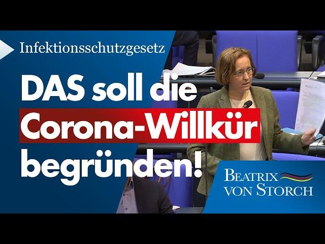 Beatrix von Storch (AfD) - DAS soll die wissenschaftliche Grundlage für die Corona-Repressionen sein