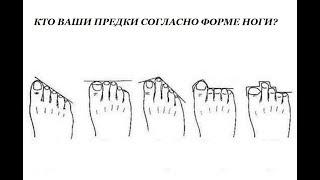 откуда я родом  форма ног расскажет о далеких предках и качествах, которыми вы обладаете