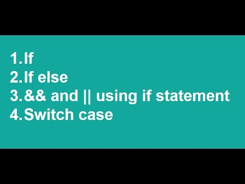 C# In Urdu/Hindi If Else Switch Case Statement Vs2017 Lecture4