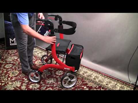 walker transport chair in one hugo navigator throne desk rollator walker, the volaris smart fitness | doovi