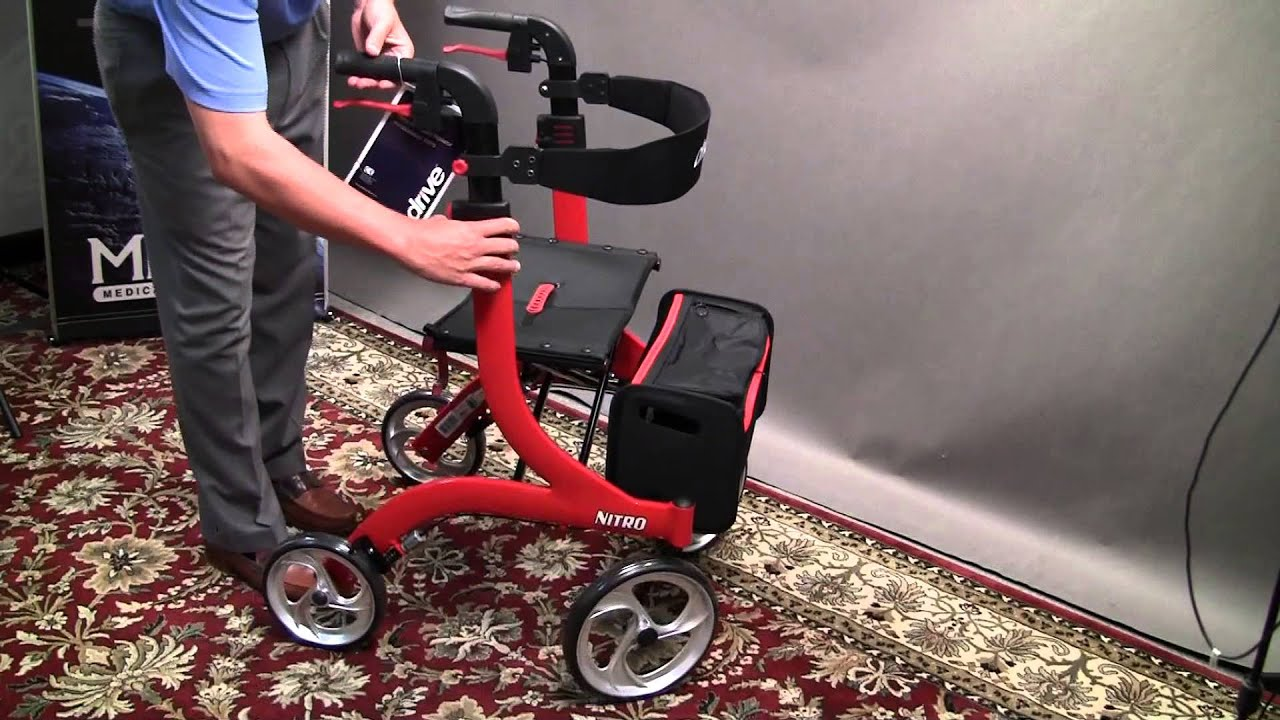Drive Medical Nitro Rollator Review & Demonstration - MMAR Medical