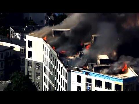 Fire Tears Through Dorchester Building Under Construction