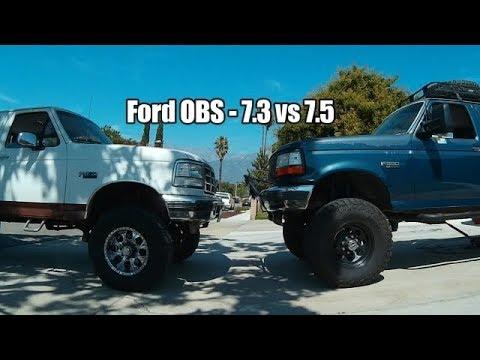 Ford OBS; 7.3 Diesel vs 460 Gasser!!