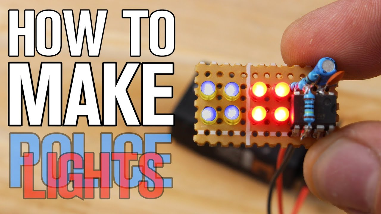 How To Make Led Police Lights Without Microcontroller Youtube Policelightscircuitdiagramusing555timerjpg