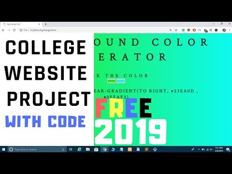 Background Color Gradient Generator College Website Project In HTML CSS And JavaScript