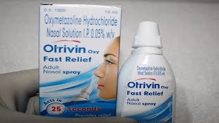 Otrivin oxy Fast Relief Nasal Spray Review Hindi /How to Use Nasal Spray
