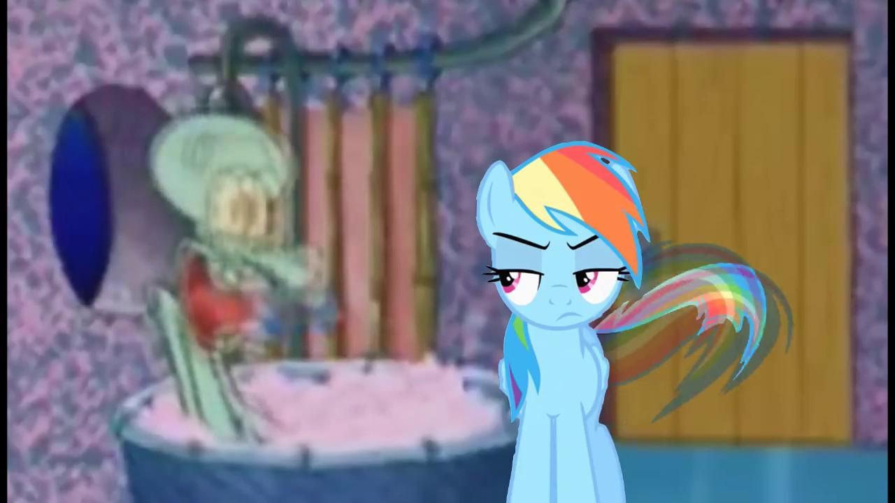 Rainbow Dash And Aj Drop By Squidward Youtube
