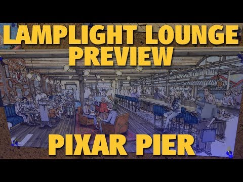 Lamplight Lounge Food Preview | Pixar Pier | Disney California Adventure