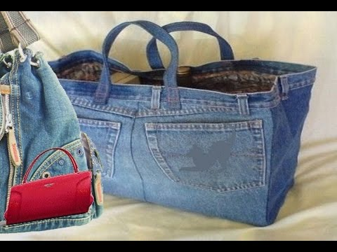How to make a bag from Old jeans