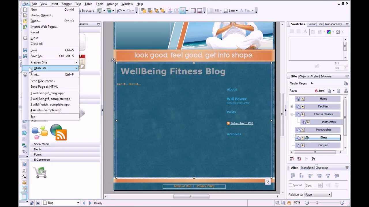 Serif WebPlus X6 Tutorial - Adding a Blog - YouTube