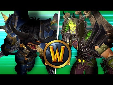 INSANE Warlock vs UNBEATABLE Warrior (1v1 Duels) - PvP WoW: Battle For Azeroth 8.1