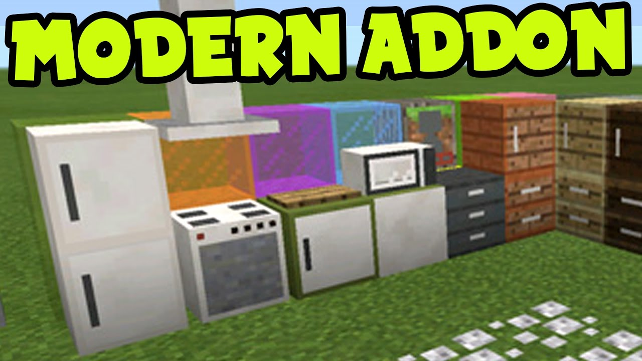 Minecraft Pocket Edition Bathroom Ideas : Mcpe addon modern furniture decorations and