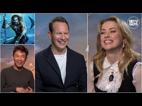 Amber Heard, Patrick Wilson & James Wan Talk Aquaman