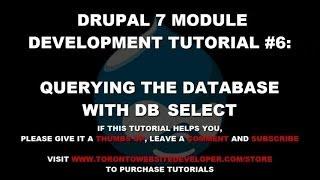 видео Drupal 8 – Database API. Часть 2 – Основные запросы в БД