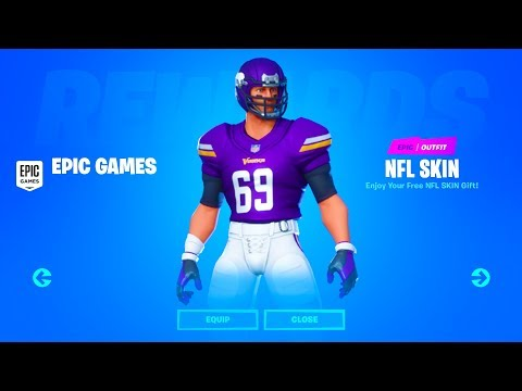 I TRIED TO GET NFL SKINS FOR FREE In FORTNITE....