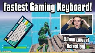 So I Tried Tнe New FASTEST Keyboard In Fortnite... Better Than Apex Pro?