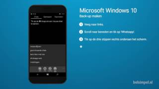 Tips & Tricks - Microsoft smartphone: Back-up maken (Windows 10)