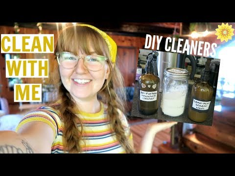 CLEAN WITH ME USING DIY PRODUCTS | ZERO WASTE CLEANING HACKS