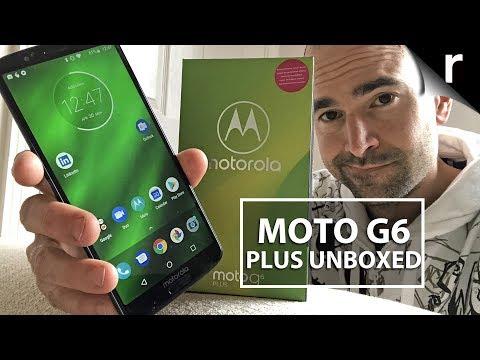 Moto G6 Plus Unboxing & Tour - YouTube