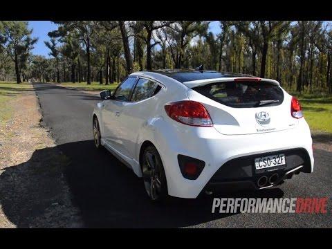 2014 Hyundai Veloster SR Turbo 0 100km h engine sound