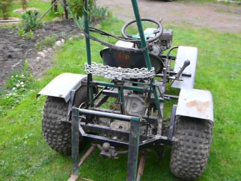 Honda GX160 DIY Garden tractor YouTube