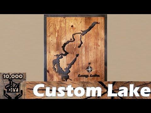 DIY : Rustic Lake  Wooden Wall Art / Reclaimed wood wall art / Wall Accent /cabin decor