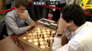 Repeat youtube video Carlsen vs Kramnik - 2013 Tal Memorial Blitz Chess