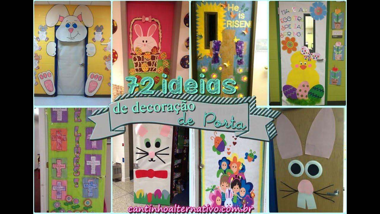 72 ideias de decora o de porta de p scoa youtube for Mural de natal 4 ano