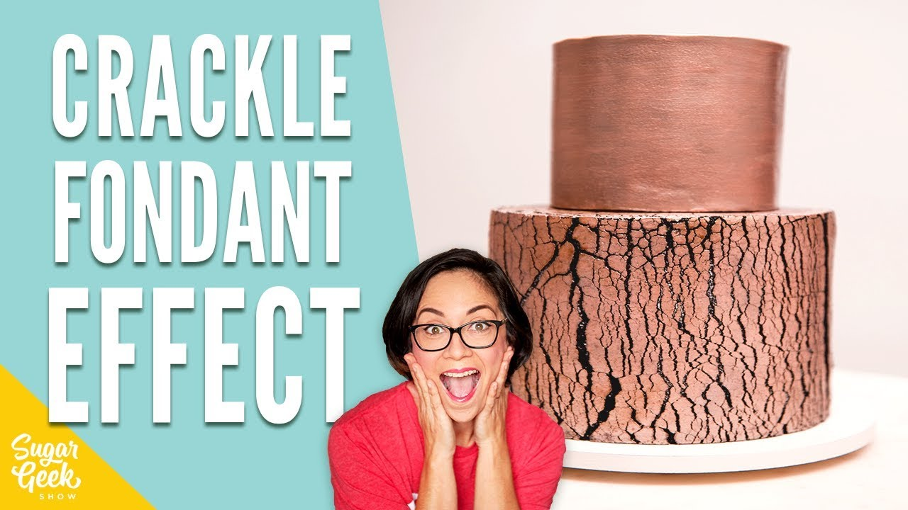 How To Make A Rose Gold Crackle Cake