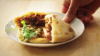 Del Real Foods - How To Make A Cheesy Pupusas Stuffed With Savory Carnitas!