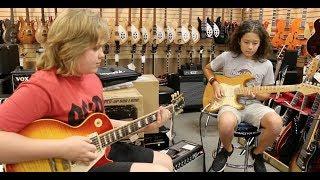 15-year-old Trey Wanvig & 12-year-old Xander Marsden playing...