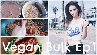 WHAT I ATE TODAY TO BUILD MUSCLE & STRENGTH // VEGAN BULK EP.1