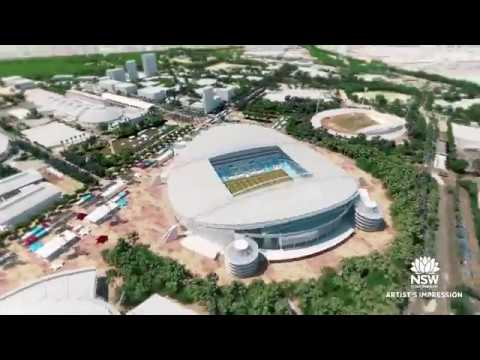 Stadium Australia animation March 2018