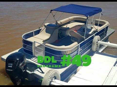 Test del Pontoon North Carolina  y un clasico asado en la Isla