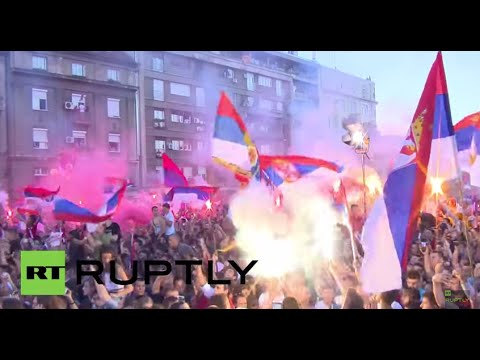 Serbia: Tens of thousands celebrate FIFA U20 World Cup win