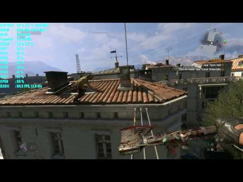 DYING LIGHT ULTRA GTX 1060 + 6700K FPS TEST - OLD TOWN SIDEQUESTS | FOUNTAIN