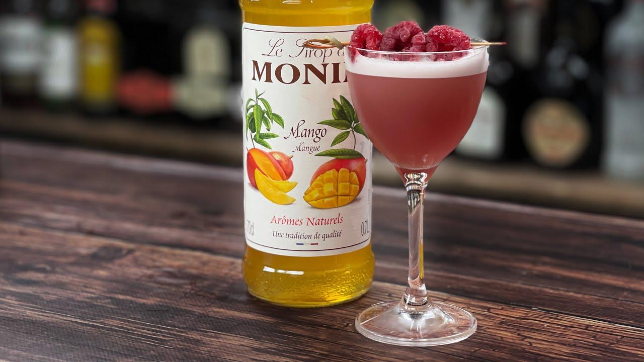 Mango Cocktails - Raspberry & Mango Martini