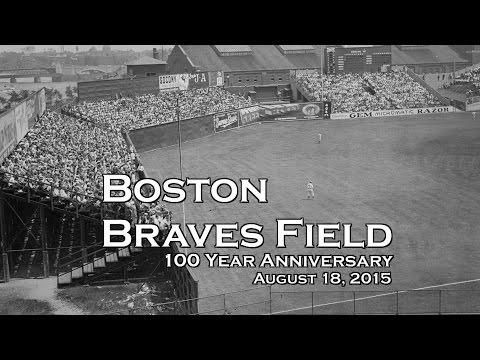 Boston Braves Nickerson Field 100 Year Old Anniversary of Baseball Ball Park