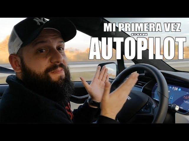VAYA MIEDO! conduce solo - AUTOPILOT Tesla Model X 100D Español