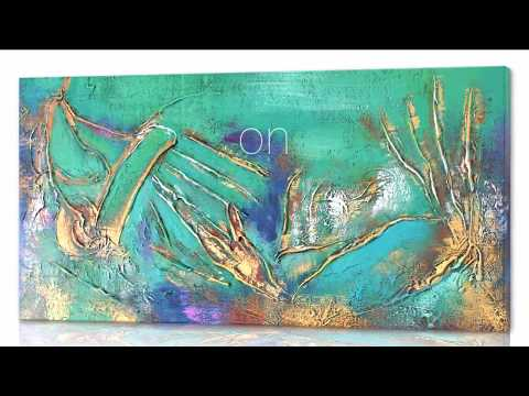 Abstrakt konst - Buried on Gold