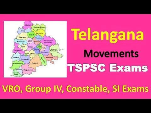 Telangana Movement and State Formation Bits