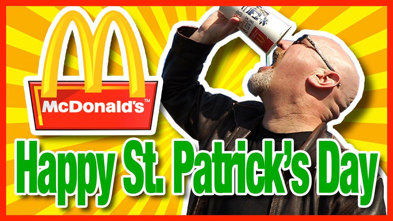 Mcdonalds Large Shamrock Shake Chug Challenge Vs Aarons Food Adventures