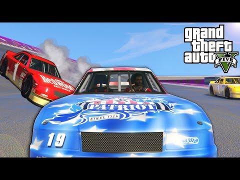 We Raced in a Nascar Stunt Race in GTA 5 Online! - GTA V Funny Moments  